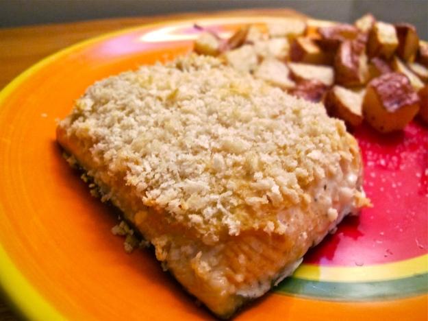 Panko-Crusted Salmon with Dijon Mustard